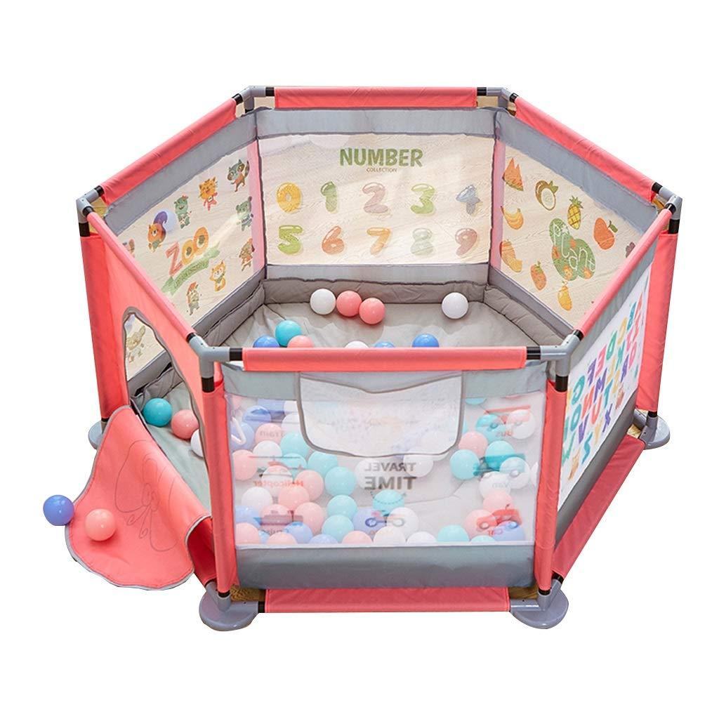 【セール】 女の子のためのピンクの遊び場 :、扉付きの保育園の劇場、6パネルルームディバイダー、124×124×65cm さいず (サイズ さいず : With mat mat) With mat B07LBRSDJW, インナー通販エルドシック:03480f44 --- a0267596.xsph.ru