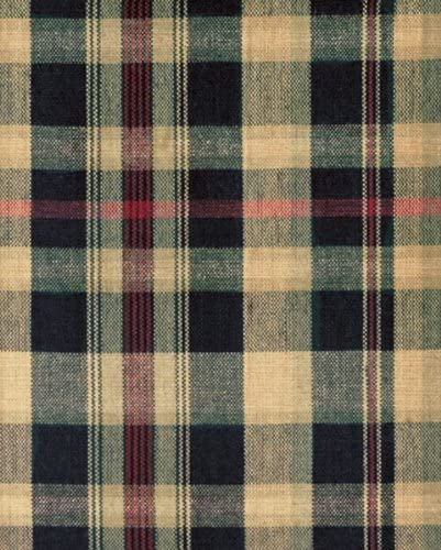 IHF Swag Tartan Design Window Treatments Unlined 100 Cotton Fabric 72 Inch x 36 Inch Swags