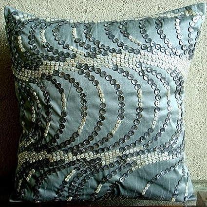 Amazon The HomeCentric Designer Blue Decorative Pillows Cover Extraordinary Blue Decorative Pillows Modern
