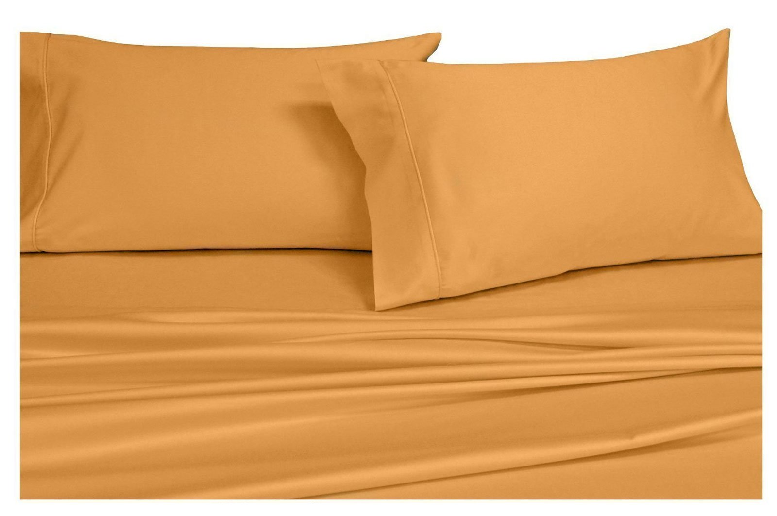 Royal Hotel Collection Ultra-Soft Sheets, Silky Soft 100% Microfiber Bed Sheets set, Deep Pocket, Wrinkle and Fade resistant, Hypoallergenic (Full Gold)