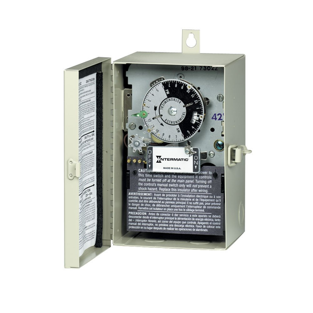 Intermatic V45471R42 3PST 120-Volt Latitude 42 Mechanical Astronomic Time Switch with Nema 3R Steel Enclosure