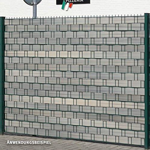 Videx Visión – Tiras para vallas, PVC imitación de madera, H: 9, 5 x l: 250 cm, Alerce de gris: Amazon.es: Jardín