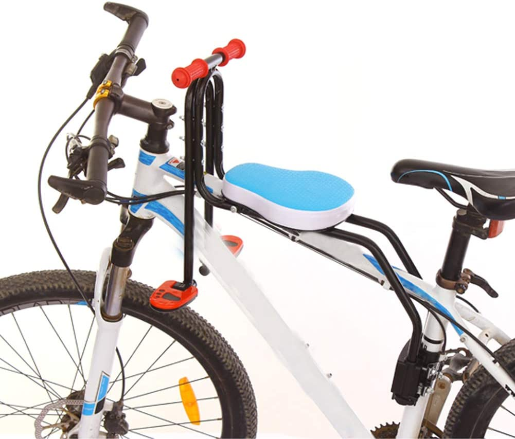 YXZN Asiento de niño de Bicicleta de montaña Delantero Sillín de Seguridad para bebés de Bicicleta de liberación rápida Seguro Conveniente,Blue,41X42CM: Amazon.es: Deportes y aire libre
