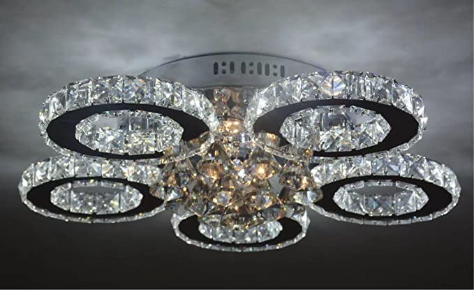 Plafoniere No Led : Shfgoo moderna plafoniera a led k crystal stainless steel light