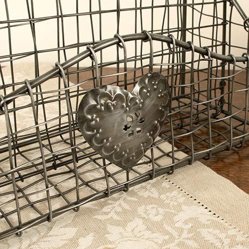 ufficio o camera da letto/ /ideale per casa /W10/x H30/x D26/CM Stile industriale nero intrecciato a mano in metallo Home Office porta oggetti/