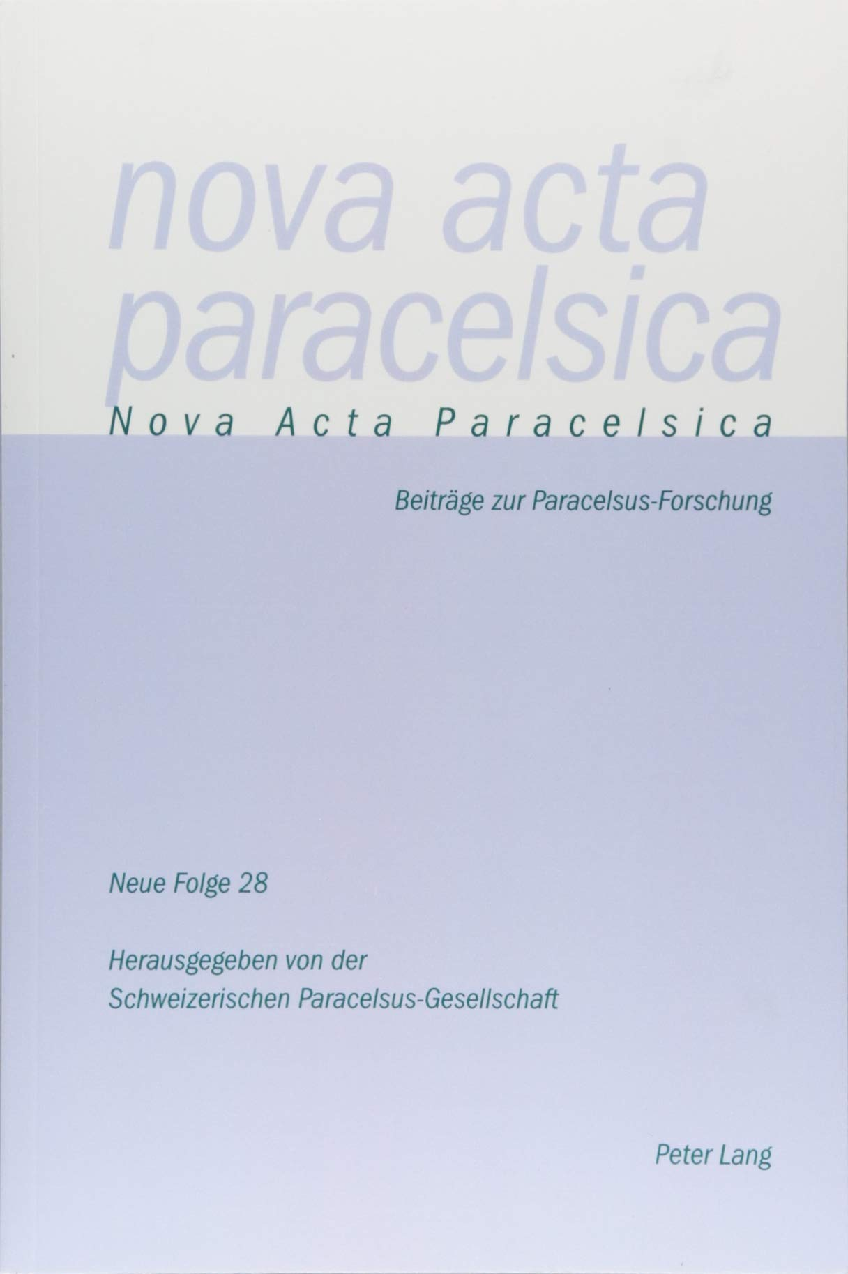 Nova Acta Paracelsica: Beiträge zur Paracelsus-Forschung (German Edition) pdf