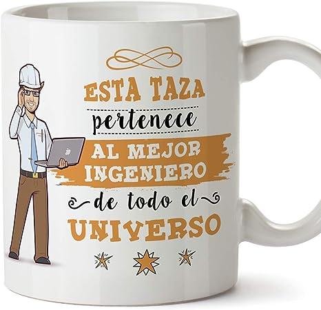 MUGFFINS Ingeniero Tazas Originales de café y Desayuno para Regalar a Trabajadores Profesionales - Esta Taza Pertenece al Mejor Ingeniero del Univers: Amazon.es: Hogar