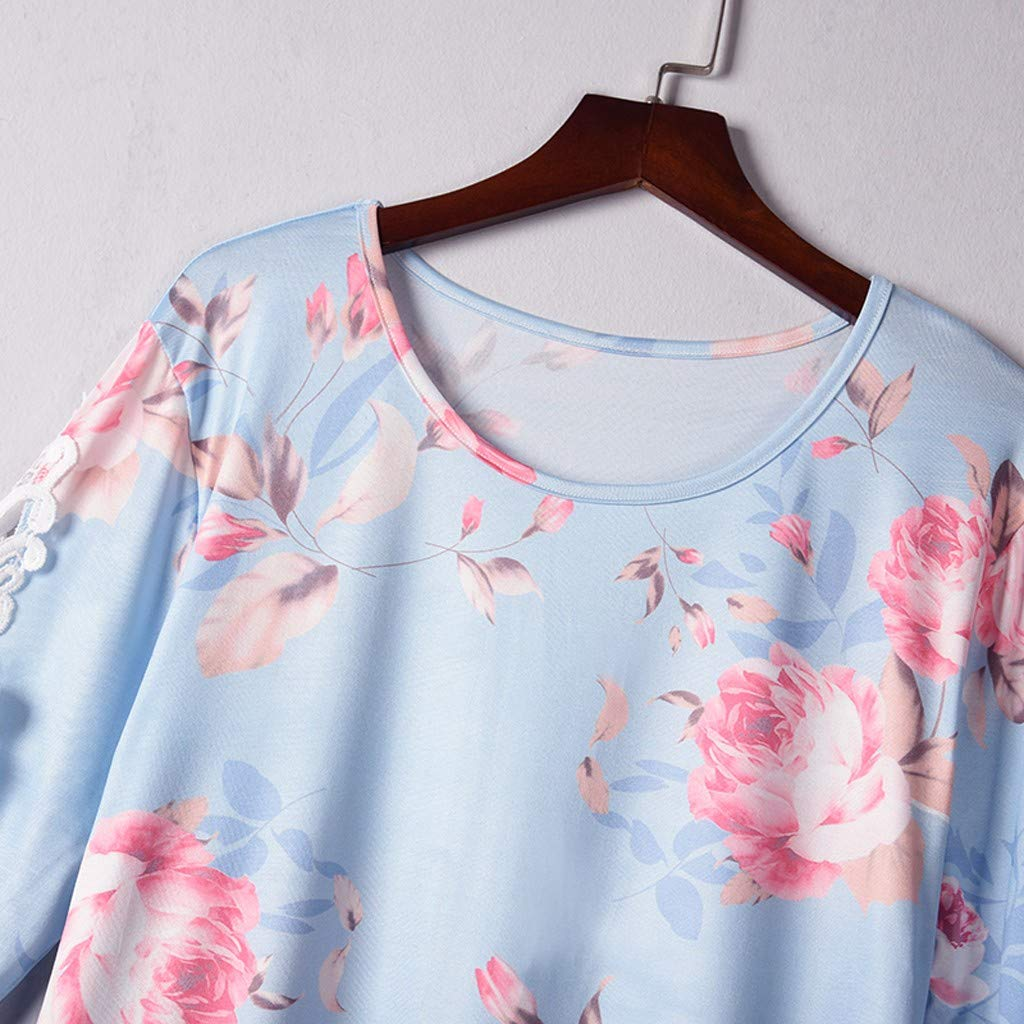 Respctful ♬Summer Short Sleeve Tops for Women Casual Boho Floral Loose Fit Pullover Casual Top