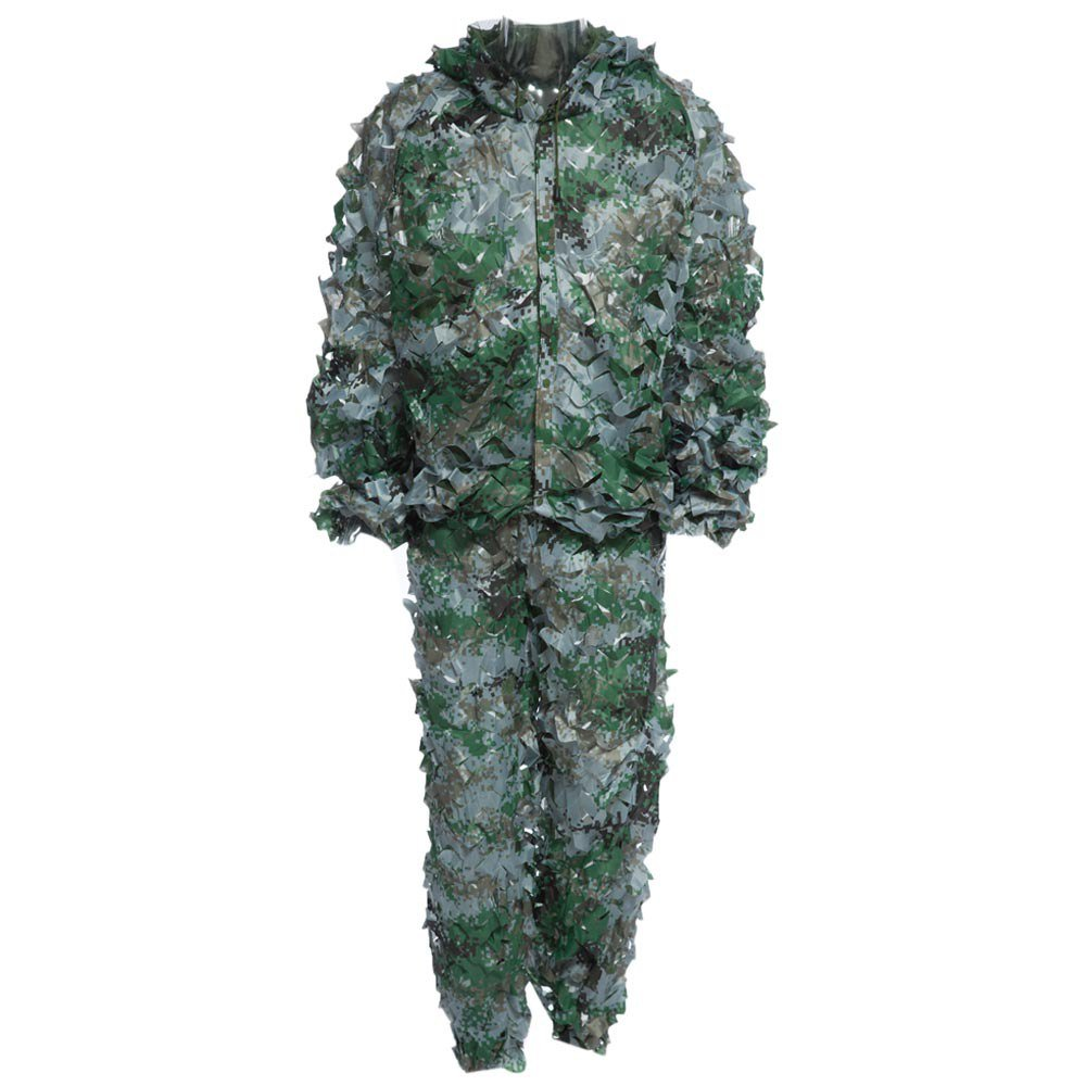 Durable Oxford Outdoor Woodland Sniper Ghillie Suit Kit Cloak Military 3d Leaf - Style2