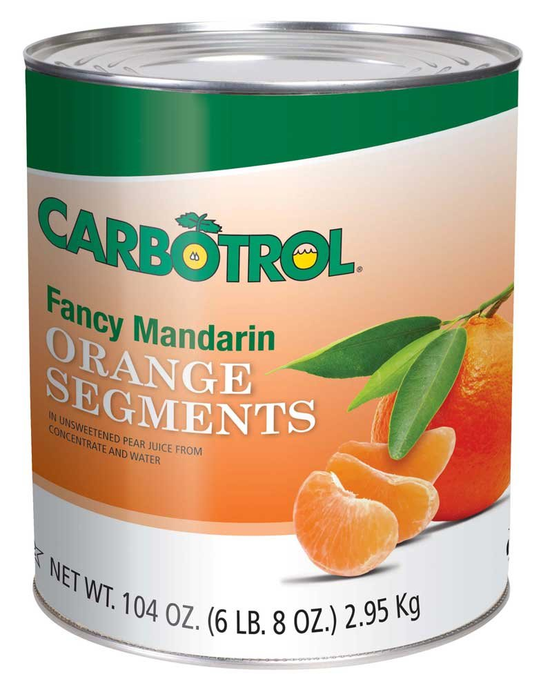 Carbotrol Mandarin Orange Fruit 6 Case 10 Can by Leahy IFP (Image #1)