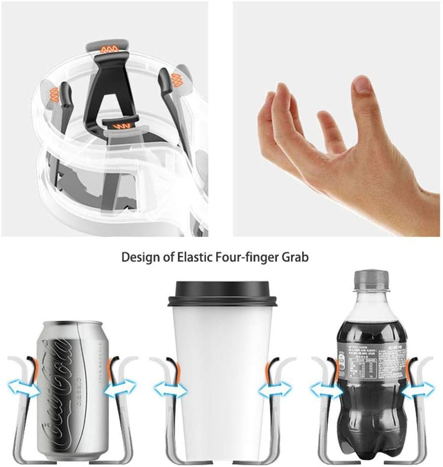 Multifunctional Universal Double Hole Cup Holder Inserts with Detachable Base for Vehicle Interior Organized Bottle Organizer Seat Back Drinking Bracket Cellphone Holder Moshbu Car Water Cup Holder