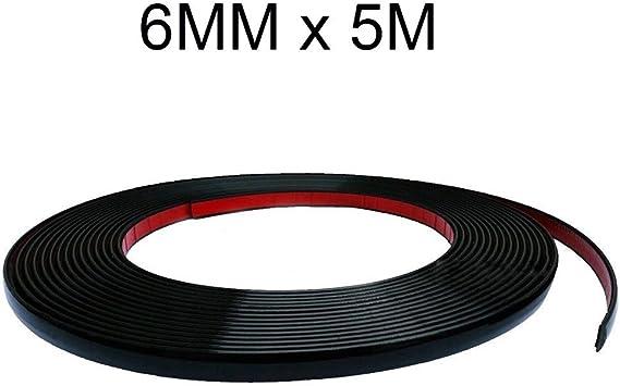Carjoy 3483 6mm X 5m Schwarz Zierleiste Leisten Selbstklebend Flexibel Auto Kantenschutz Auto