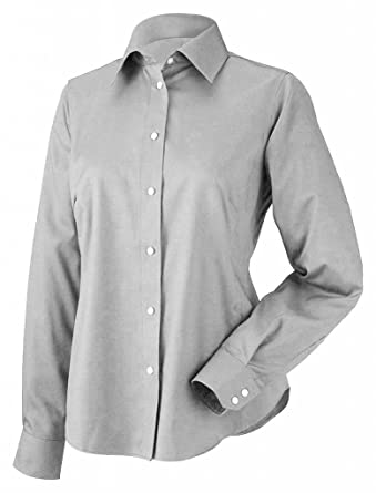 c92f3c88076 Chestnut Hill Women s Executive Performance Pinpoint Oxford Button Down  Dress Shirt CH620W grey X-Small