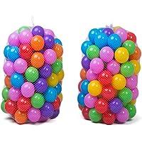 TOYANDONA 50pcs Colorful Plastic Balls Ocean Balls Phthalate Free BPA Free Crush Proof Elastic Balls Bath Toys Playballs…