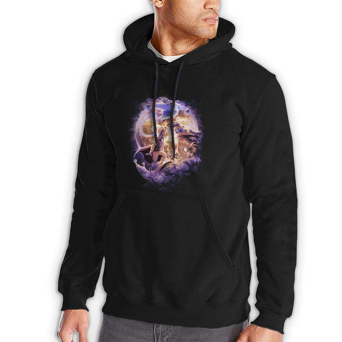 Arabian Nights,Print Mens Hooded Jacket Kangaroo Pocket Sports Hoodies Black