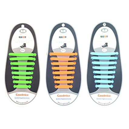 b91f985fcad36 No Tie Shoelaces Set 3 Pairs New Design Convenient Silicone Elastic Shoe  Lace …