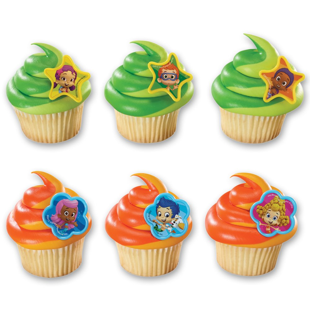 amazon com decopac bubble guppies molly gil and gang cupcake