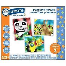 Elmer's Pom Pom Mosaic Craft Kit, Includes 1300 Pom Poms and 3 Posters (ec61612)