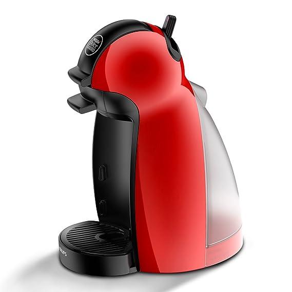 Krups Piccolo KP1006 - Cafetera Nestlé Dolce Gusto de 15 bares de presión y 1500 W de potencia con depósito de 0,6 L, color rojo: Amazon.es: Hogar