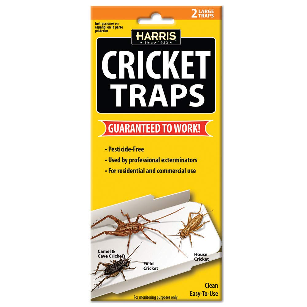 HARRIS Cricket Glue Traps, Non Toxic and Pesticide Free (2-Pack)