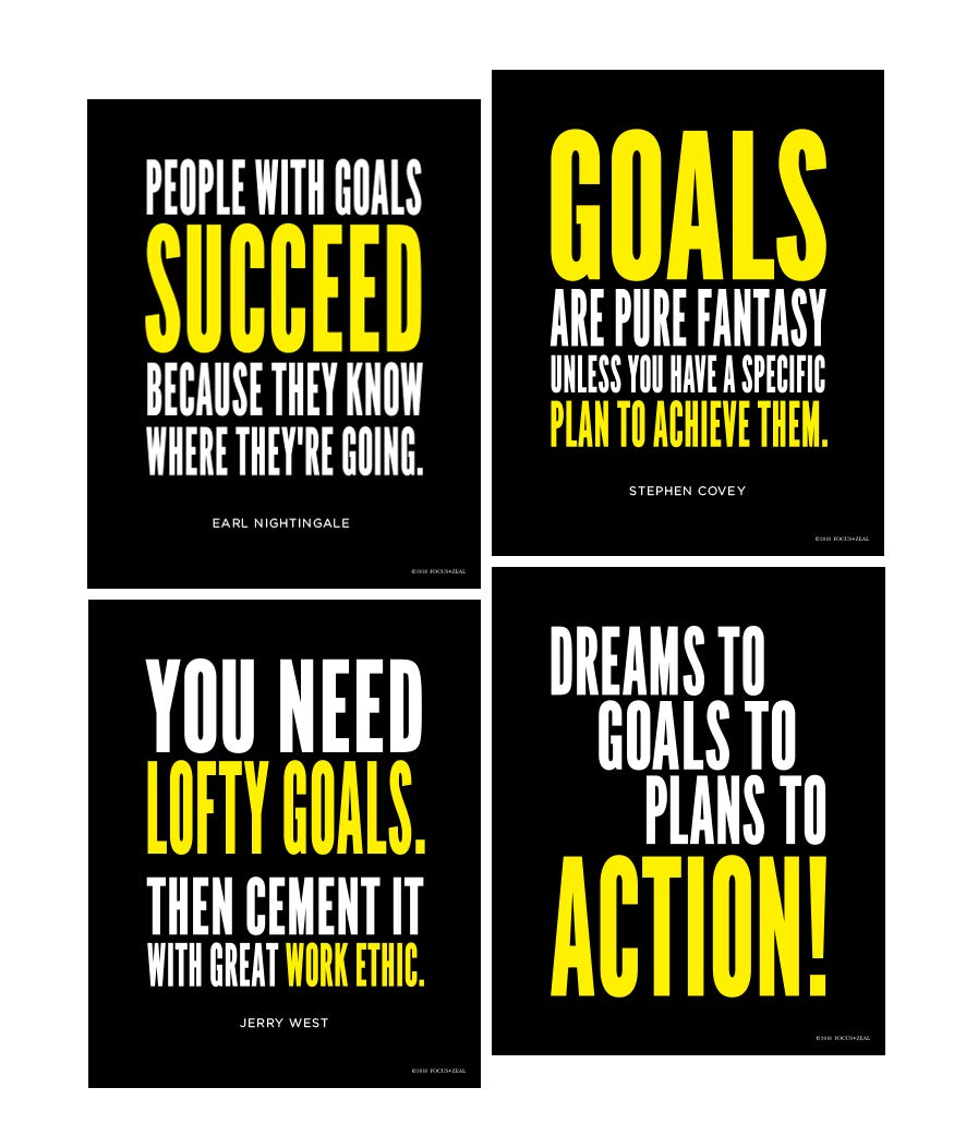 Amazoncom Goal And Work Ethic Inspirational Posters Motivational