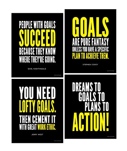 Amazon Goal And Work Ethic Inspirational Posters Motivational