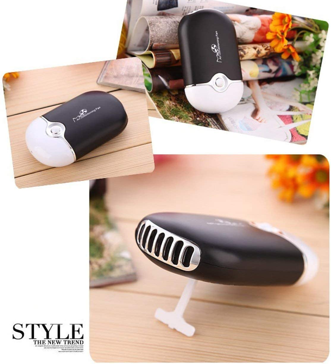 Detectorcatty Portable Mini Fan Quick Dry for Eyelashes Grafting Implanting Fanfree Air Conditioning Cooling Machine
