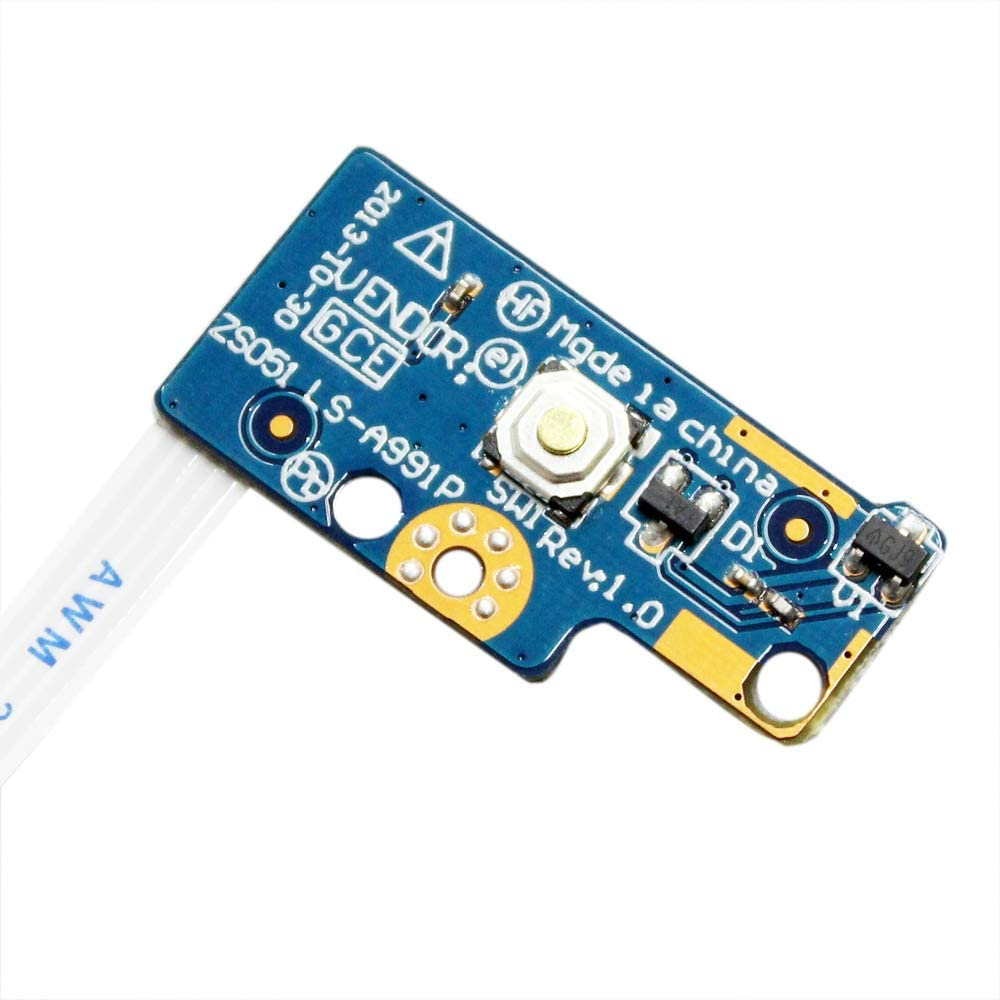 GinTai Power Button Board w//Cable Replacement for HP 15-r138ca 15-r174ca 15-r011dx 15-r029wm 15-r063nr 15-r181nr 15-r052nr 15-R030WM 15-g071nr 15-g072nr 749650-001 LS-A991P 250 G3 255 G3 20 PCS