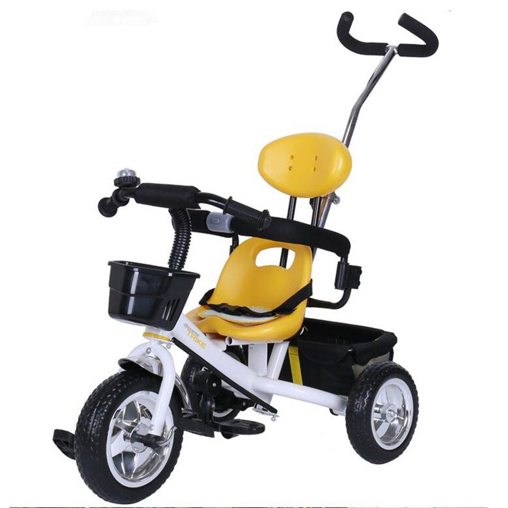 HAIZHEN マウンテンバイク 子供の三輪車非膨張EVA車輪調節可能なプッシュロッド自転車1-5歳のトロリー自転車 新生児 B07DL7P7MW 白 白