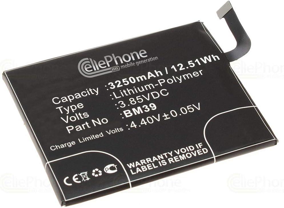 cellePhone batería Li-Polymer para Xiaomi Mi 6 (reemplazado BM39)