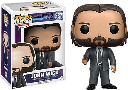 Funko John Wick Chapter 2 x POP #387 // 12535 - B : John Wick Movies Vinyl Figure /& 1 POP Chase Edition Compatible PET Plastic Graphical Protector Bundle