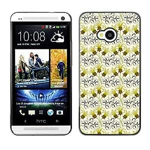 ZECASE Funda Carcasa Tapa Case Cover Para HTC One M7 No.0004517