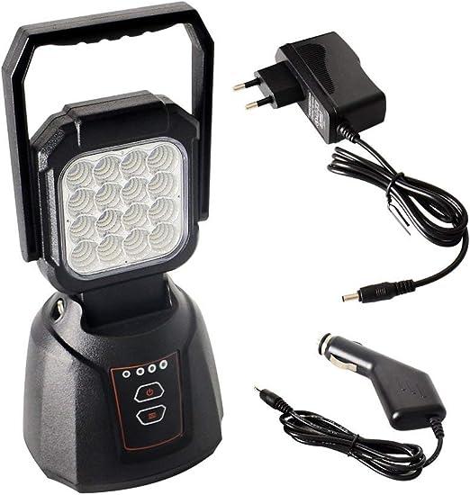 AAIWA Foco LED Proyector 48W 4800LM Lámpara Camping Recargable Luz ...