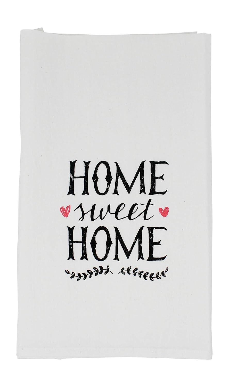 Nino and Baddow Home Sweet Home Funny Dishcloth Tea Towel Screen Printed Flour Sack Cotton Kitchen Table Linens