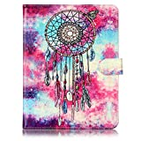 Universal Tablet 8 inch Case, SsHhUu Wallet Slim PU Leather Flip Case [Marble