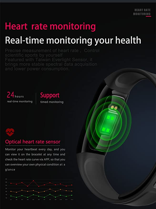 Amazon.com: Bluetooth Blood Pressure Smart Watchintelligent ...