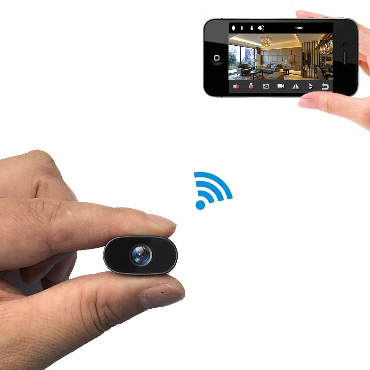 PNZEO W2 Mini Hidden Camera 1080P HD IP Camera Video Recorder 140 wide-angle wireless wifi Spy Camera Security Camera Remote view Motion Detection