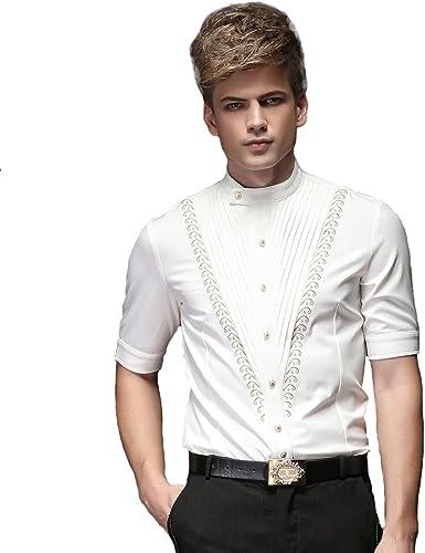FANZHUAN Camisas Blancas Hombre Marca Camisas Hombre Blancas Manga Corta Camisa De Vestir Hombre Non Iron Camisa: Amazon.es: Ropa y accesorios