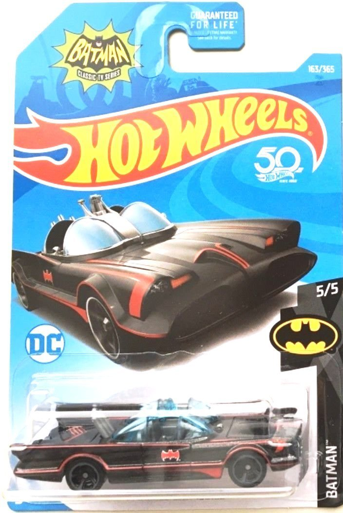 Hot Wheels 2018 50th Anniversary Batman Classic TV Series Batmobile 163/365 Mattel