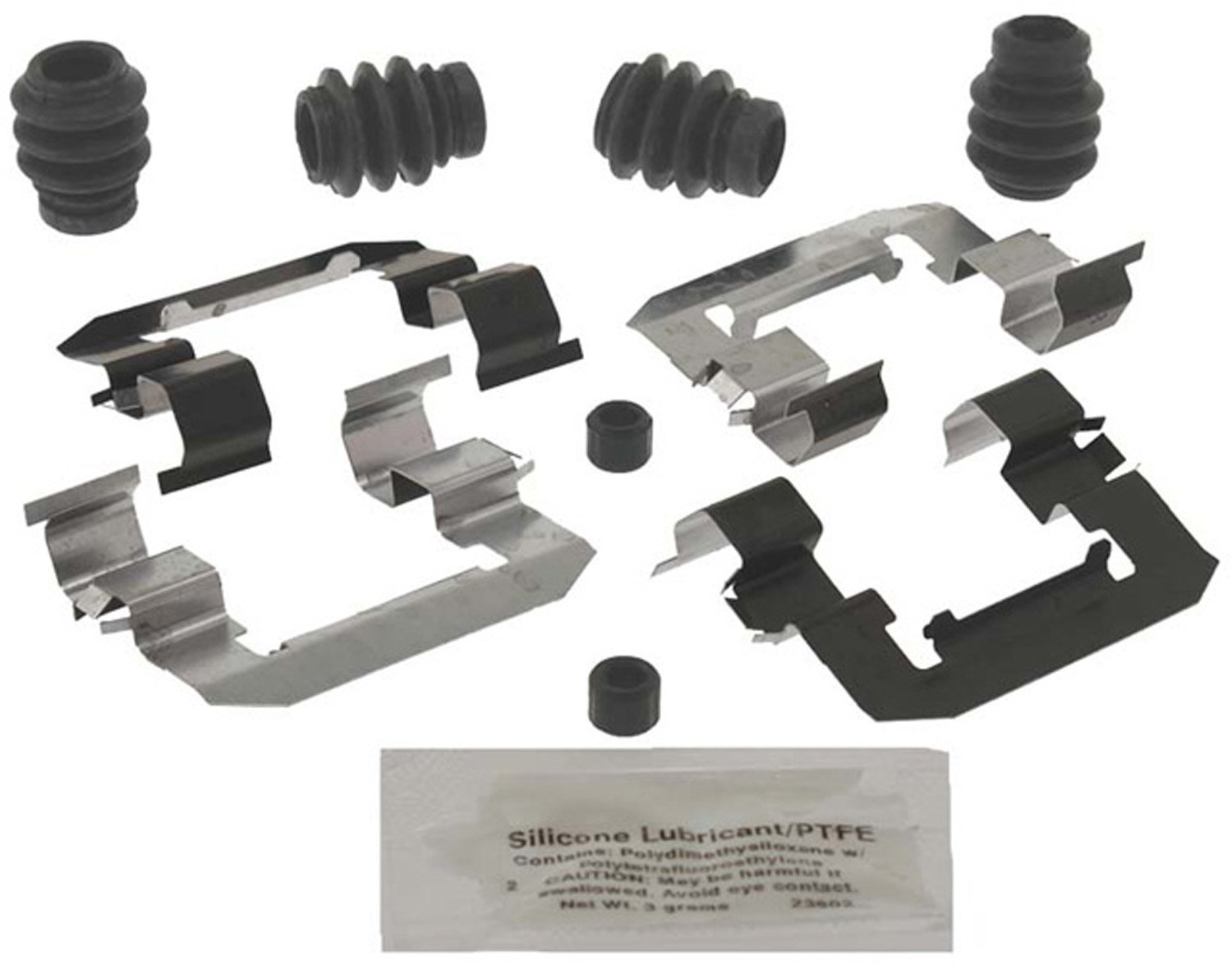 Seals and Lubricant Bushings ACDelco 18K2010X Professional Front Disc Brake Caliper Hardware Kit with Clips