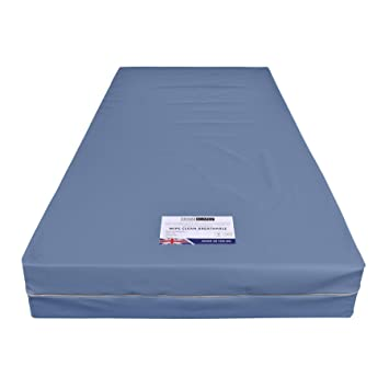 Homescapes Limpiar con Revestimiento de PU Transpirable de Espuma de colchón Impermeable (200 mm de Profundidad, Poliuretano, Azul, 90 x 190 cm: Amazon.es: ...