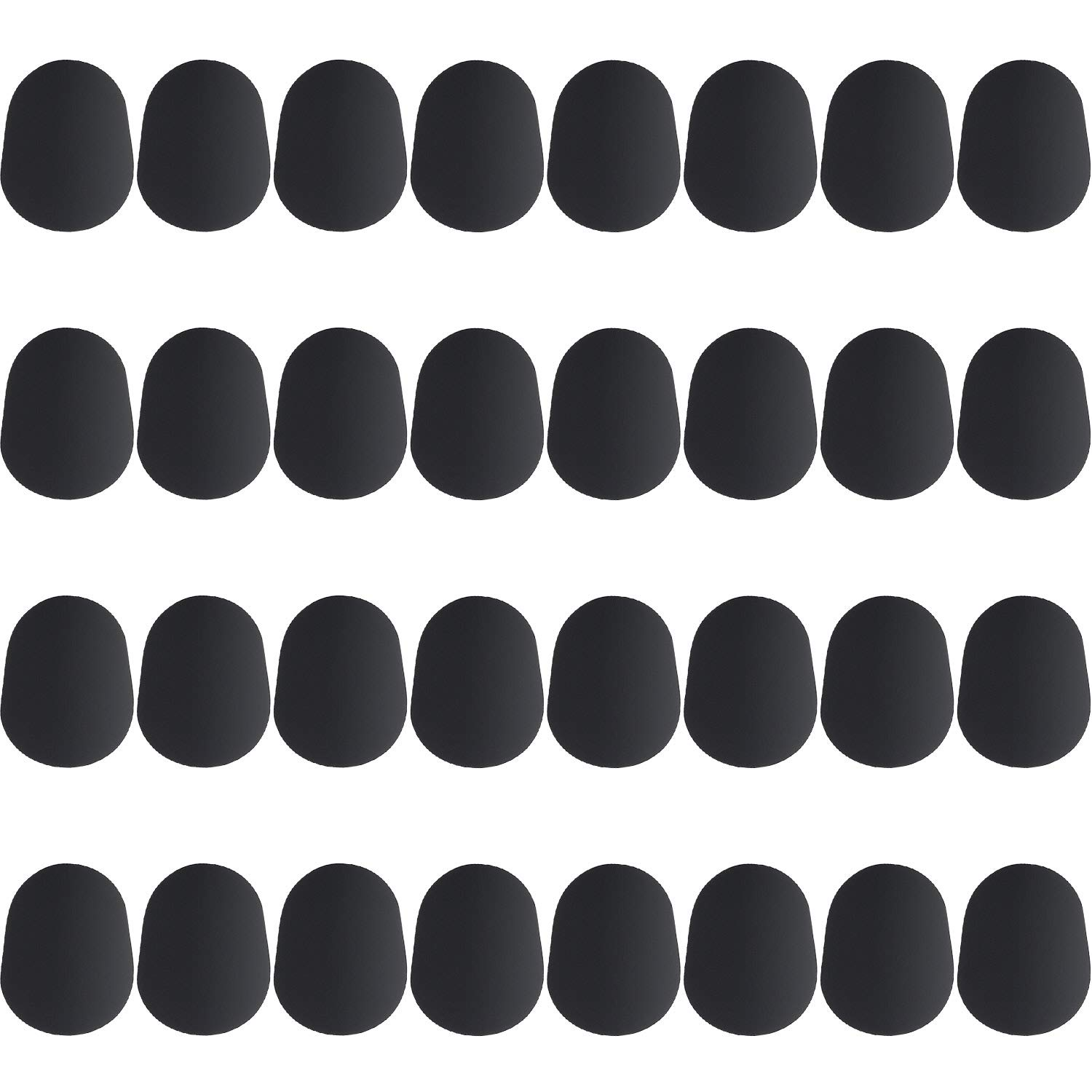 Boao 32 Pieces Mouthpiece Cushion 0.8 mm Mouthpiece Patches for Alto and Tenor Saxophone and Clarinet, Black