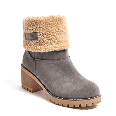 hot sale online 41c16 bdd33 Orktree Schneestiefel Damen Stiefel Wasserdicht Kurz Stiefeletten Schuhe  Damen Winterstiefel Schlupfstiefel