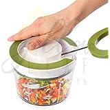 Yellow Leaf Products Jumbo 850 ml Vegetable Fruit Nut Onion Chopper, Hand Meat Grinder Mixer Food Processor Slicer Shredder Salad Maker Vegetable Tools (Parrot Green, 1)