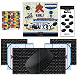 Scrapbook Customs Go Big Hockey Themed Paper and Stickers Scrapbook Kit