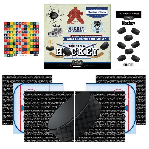 - Scrapbook Customs Go Big Hockey Themed Paper and Stickers Scrapbook Kit