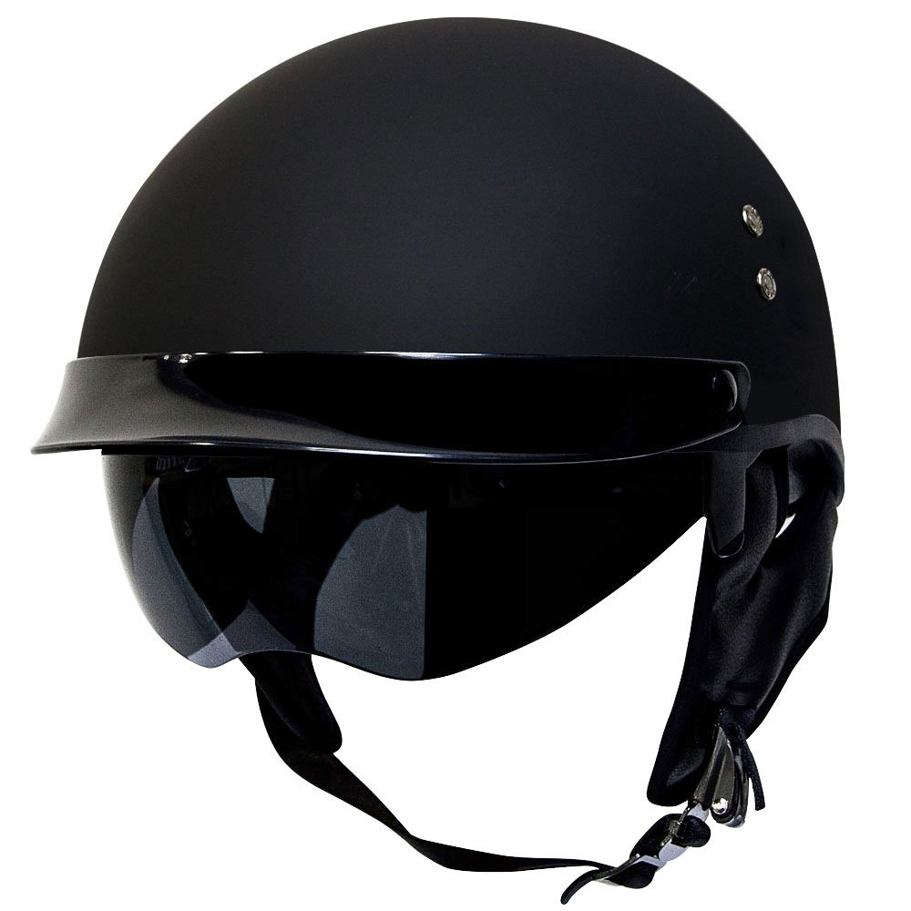 Amazon.com: Voss 888FRP Hand Laid Fiberglass DOT Half Helmet with ...