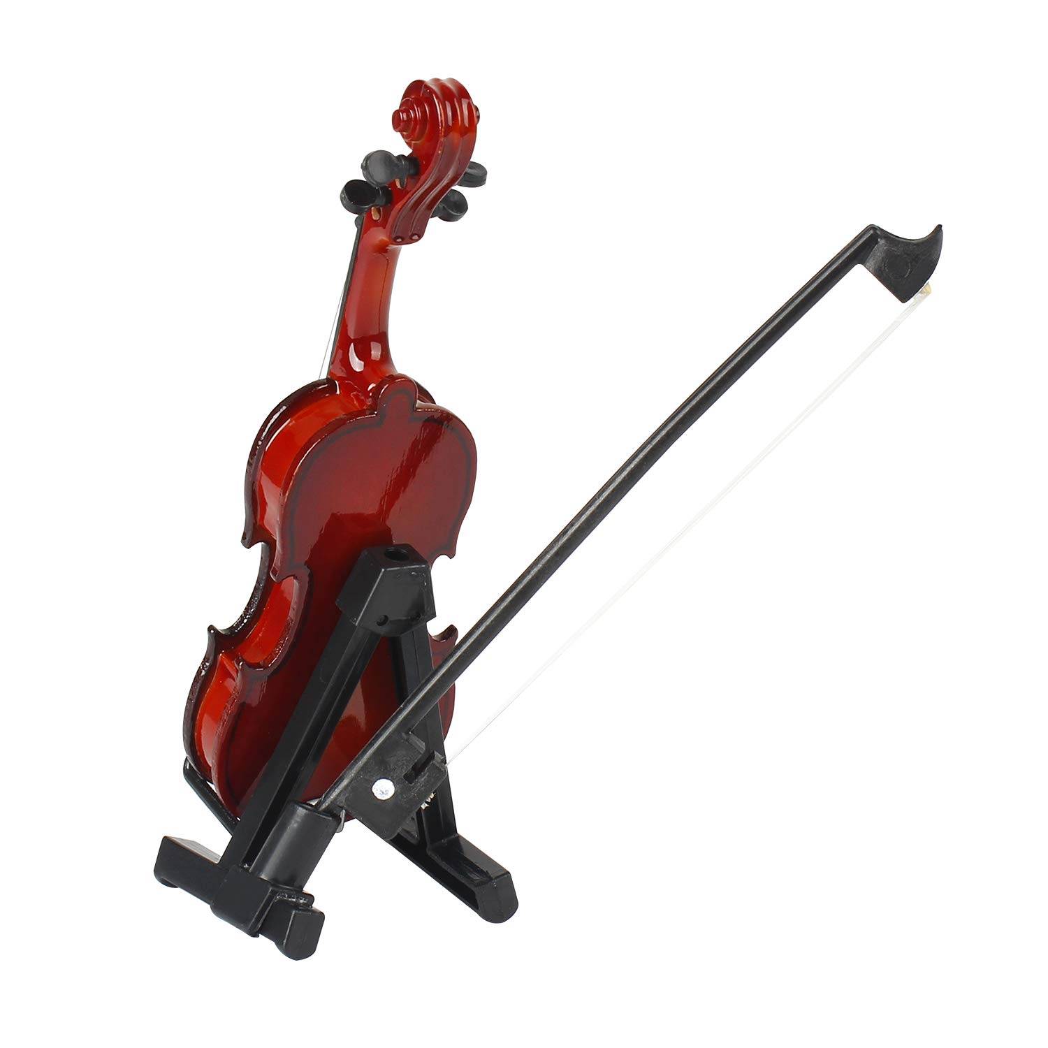 MyLifeUNIT Mini Violin with Stand Bow and Case Wooden Musical Instrument