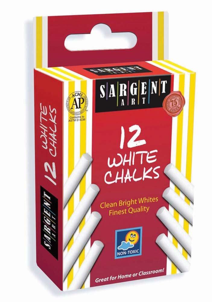 Sargent Art 66-3012 12-Count White Chalk SARGENT ART INC.