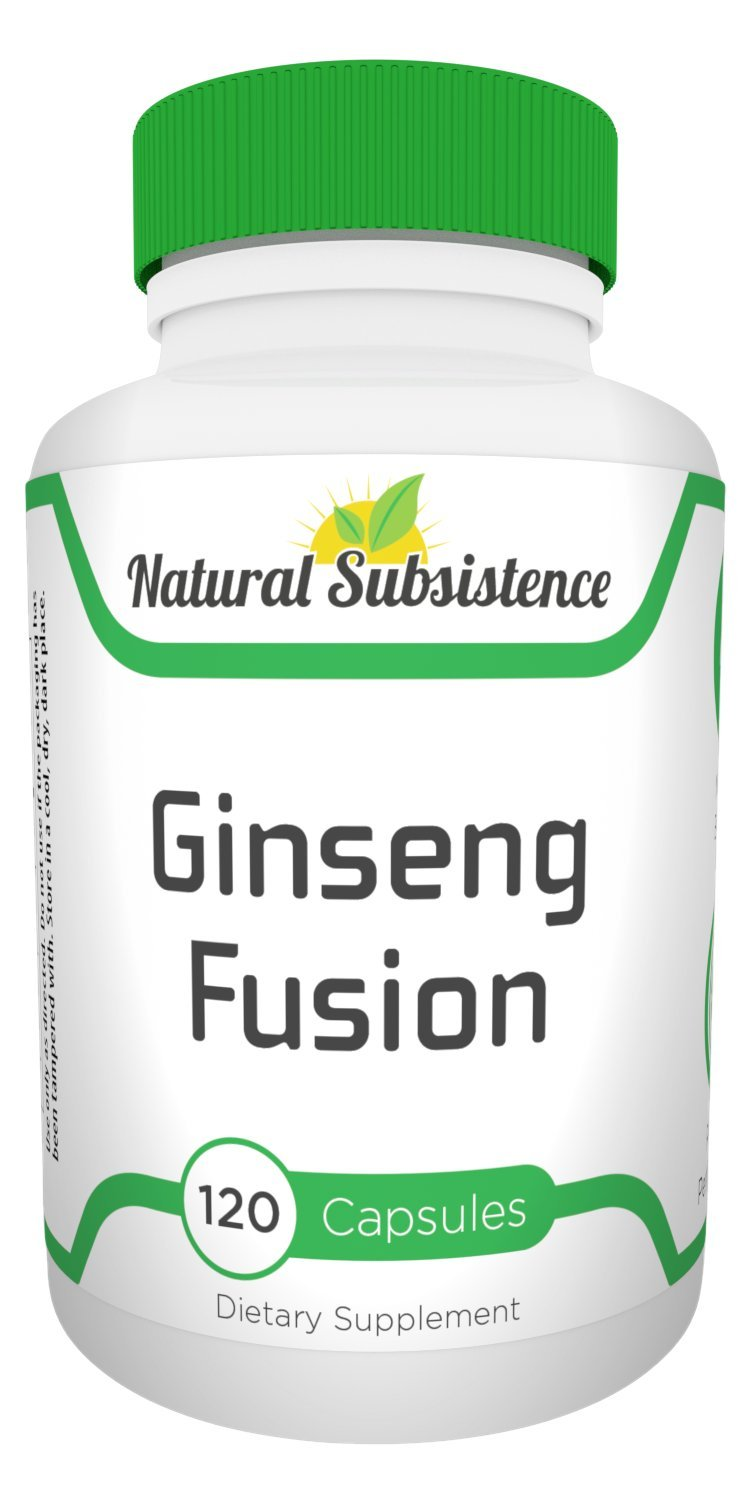 Ginseng Fusion 1125mg-120 capsules. Strongest Ginseng w/ 80% Ginsenosides. Energy, Wellness, Performance, Vitality for Men & Women
